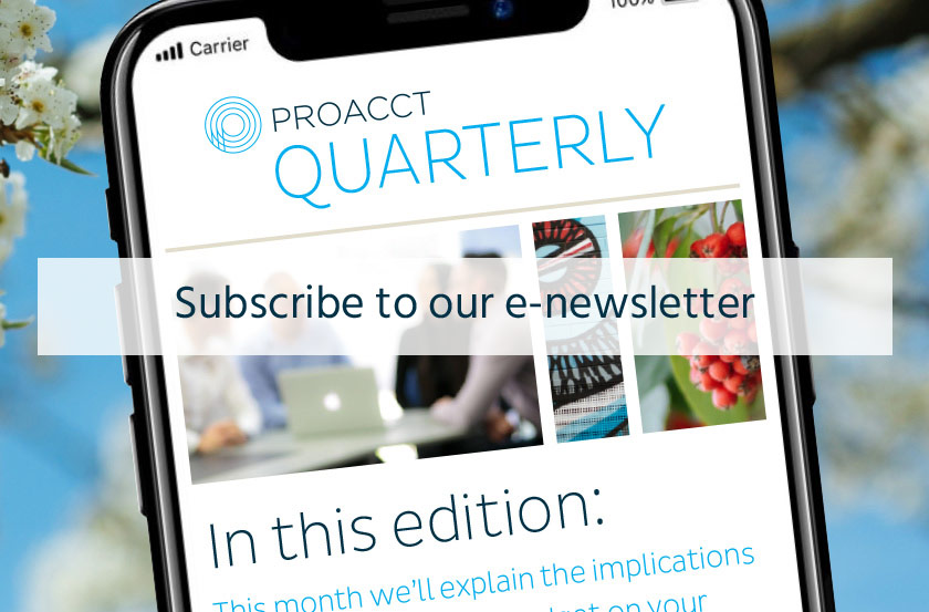 Subscribe to the Proacct Newsletter